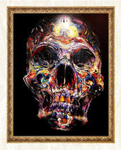 Load image into Gallery viewer, Colorful Skull DIY Diamond Painting