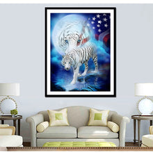 Load image into Gallery viewer, White Tigers & American Flag