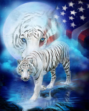 Load image into Gallery viewer, White Tiger Diamond Painting Kit
