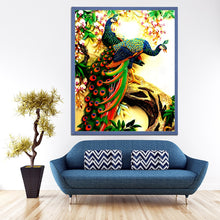 Load image into Gallery viewer, Colorful Peacock Diamond Painting