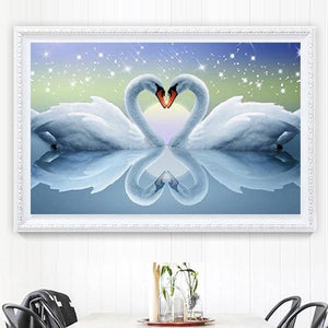 Swan Pair | 5D Diamond Art Kit