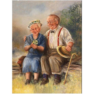 Sweet Old Couple DIY Diamond Paintings