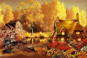 Stunning Landscapes & Houses DIY Paintings