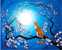 Load image into Gallery viewer, Cats on Trees DIY Diamond Paintings
