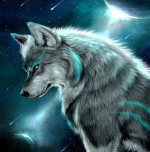 Load image into Gallery viewer, Wolf under Moon DIY Diamond Painting