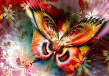 Load image into Gallery viewer, Flying Butterfly DIY Diamond Painting