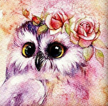 Load image into Gallery viewer, Cute Owl with Flower Crown