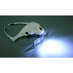 LED Light Headband Magnifier Glass for Painting with Diamonds