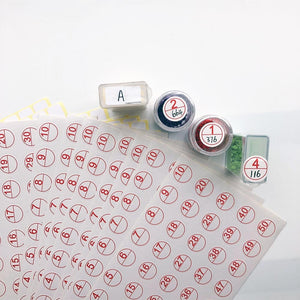 Stickers for Labeling Diamonds Containers