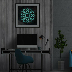 Glow In The Dark 5D Painting Mandala Style