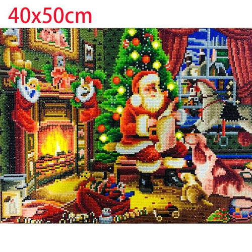 Santa LED Diamond Painting