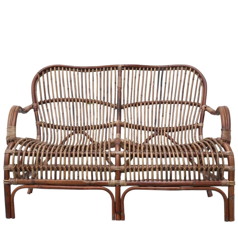 Seville Rattan Two Seater Antique couch