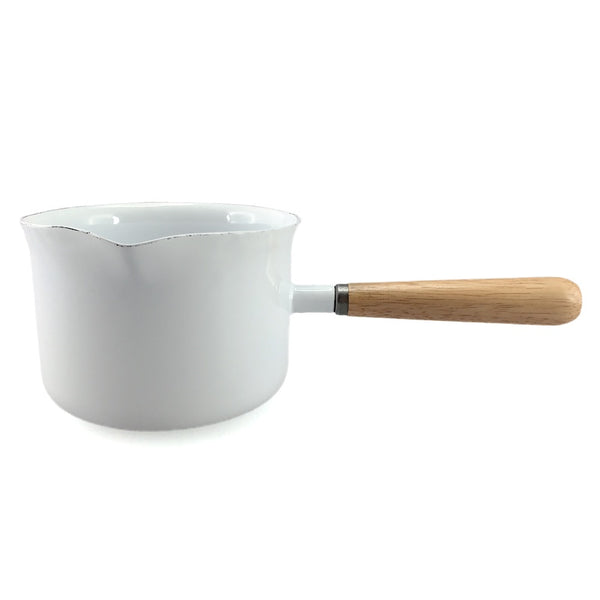 Enamel Butter Warmer -  white