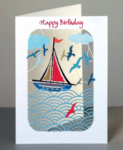 Happy Birthday Yacht Greetings Card