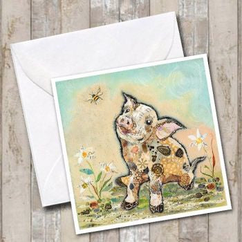 If Pigs Could Fly Greeting Card by Dawn Maciocia