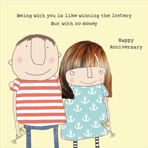 Lottery Happy Anniversary Greetings Card