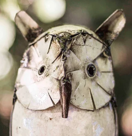 Owl Recycled Metal