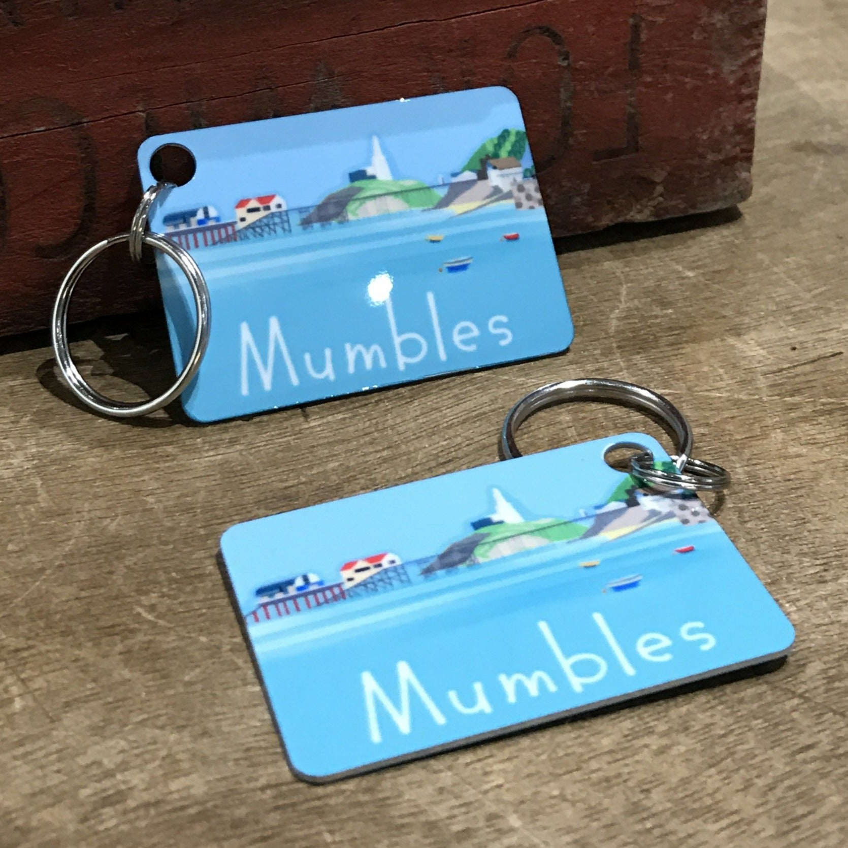 Mumbles Headland Key Ring (Aluminium) sold on behalf of Noodle Design