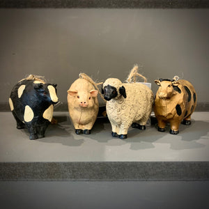 New England Resin Cow Sheep Pig Decoration