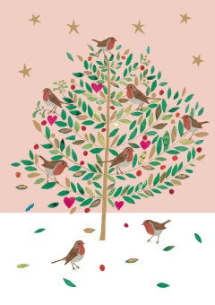 Pack of 5 Christmas Tree Card