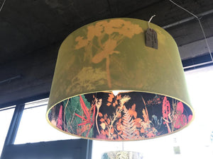 Lampshade Pendant 45cm - Felicity with a mustard outer