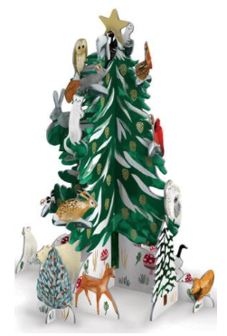 POP054 Pop & Slot Advent Calendar Christmas Conifer