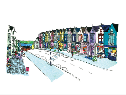 Top Shops Newton Rd ltd ed print sold on behalf of N L Morgan