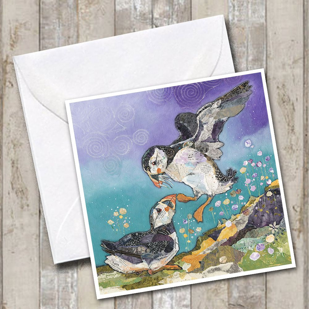 Love on the Rocks Puffin Greetings Card