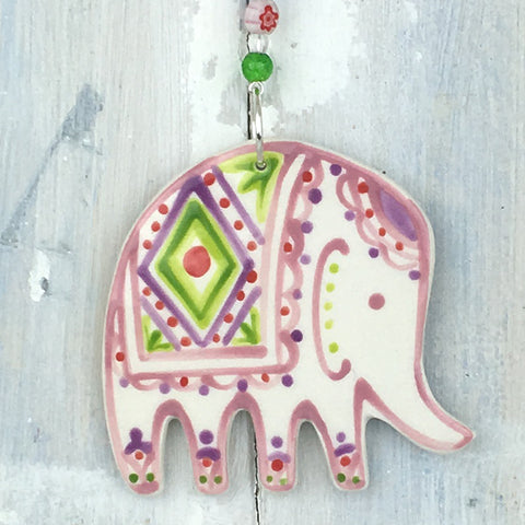 Red Elephant Hanging Decoration