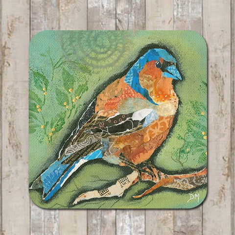 Coaster Finch on Green by Dawn Maciocia