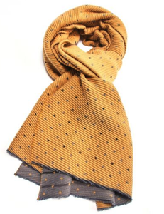 Pleated Tiny Dots Scarf