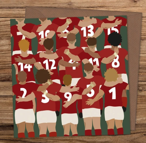 Welsh National Anthem Rugby Card