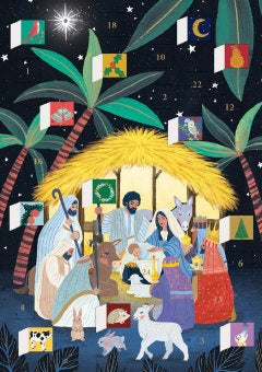 Advent Calendar Card - Away in a Manger - ACC073
