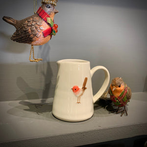Ceramic Mini Jug with Robin