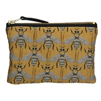 Gold Bee Jacquard Purse