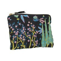 Midnight Garden Jacquard Purse