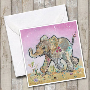 Kali the Elephant Greetings Card