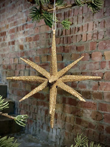 Gold Glitter Bethlehem Star Decoration