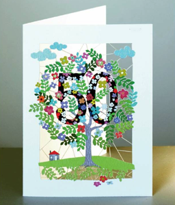 Age 50 Tree Greetings Card