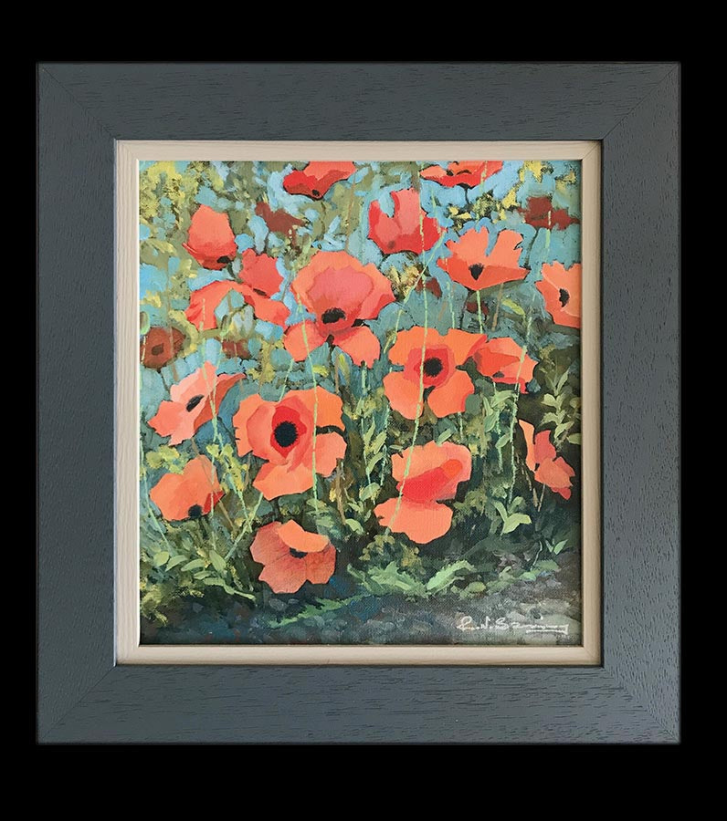 Mountain Poppies an original oil painting sold on behalf of R N Banning