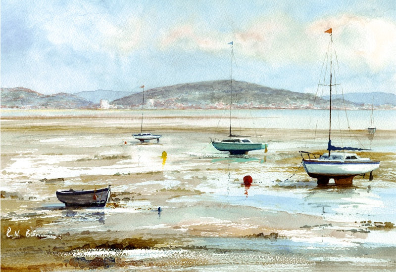 The Moorings Mumbles Print sold on behalf of R N Banning