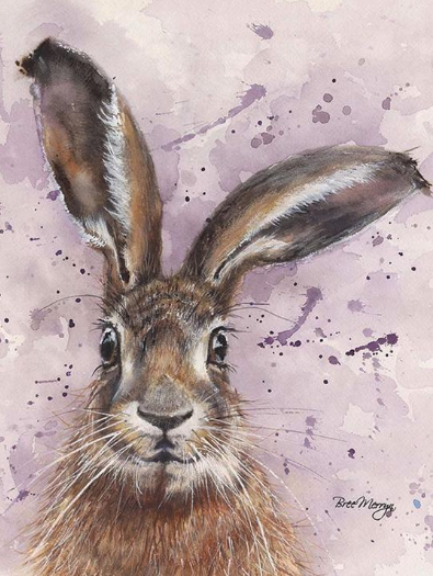Horatio Hare Canvas Cutie 15x20cm by Bree Merryn