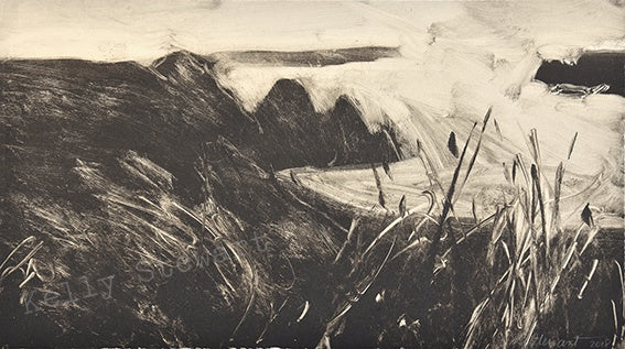 Monoprint 1 Three Cliffs Bay 38cm x 22cm Original sold on behalf of Kelly Stewart