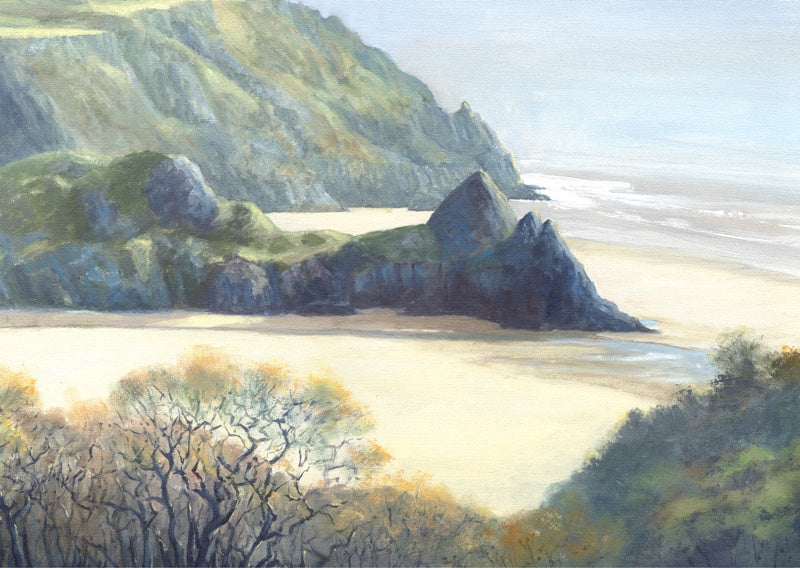 Three Cliffs in Spring Giclee print sold on behalf of R N Banning