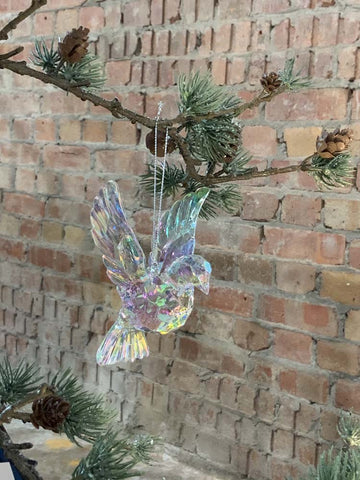 Rainbow Iridescent Flying Dove Decoration