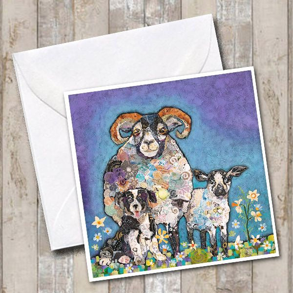 Ram a Lamb a Ding Greeting card by Dawn Maciocia