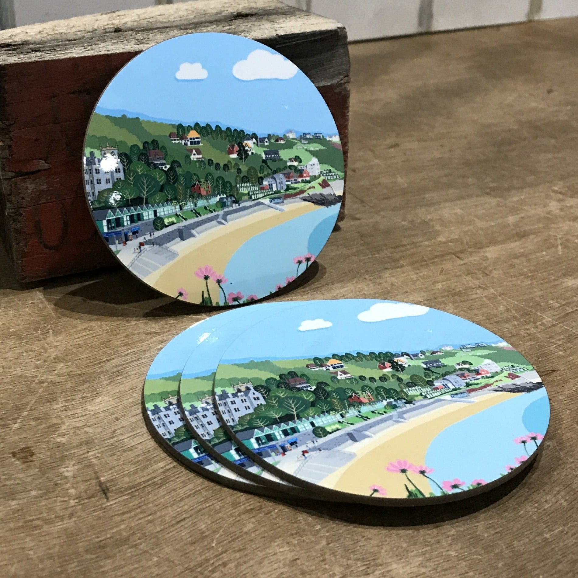 1 Langland Bay Coaster RD 10cm sold on behalf of Noodle Design