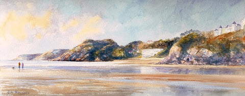 September Morning Caswell Bay sold on behalf of R N Banning Ltd Ed Print