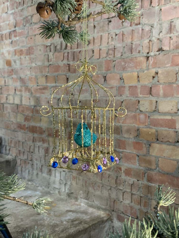 Bird in a Gilded Cage Christmas Decoration