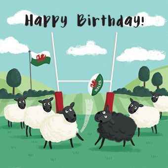 Happy Birthday Rugby Sheep